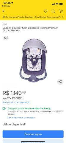 Cadeirinha de Balanço automática - cadeira de bebê vibra música bluetooth - Foto 2