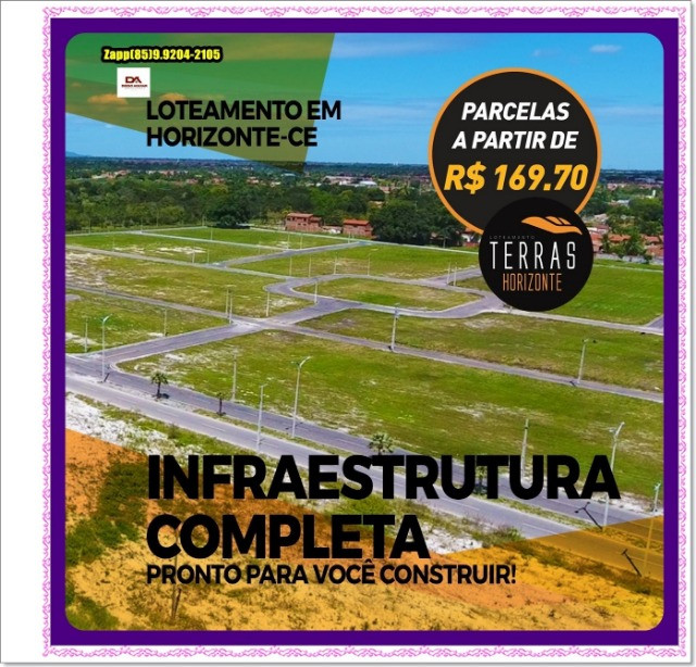 Lotes Terras Horizonte - Construção Liberada-&#$ - Foto 10