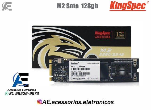 SSD M.2 128gb, 256gb e 512gb Sata - KingSpec - Entregamos e Aceitamos Cartões