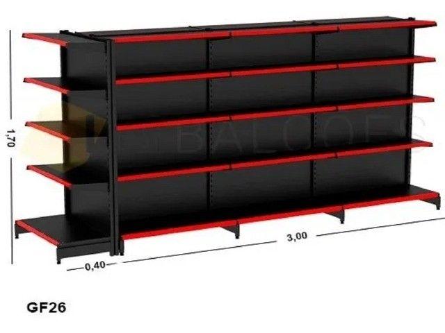 Gondola Central Amapá* 3,00×1,70 + Ponta 1 Inicial +2 Continuação