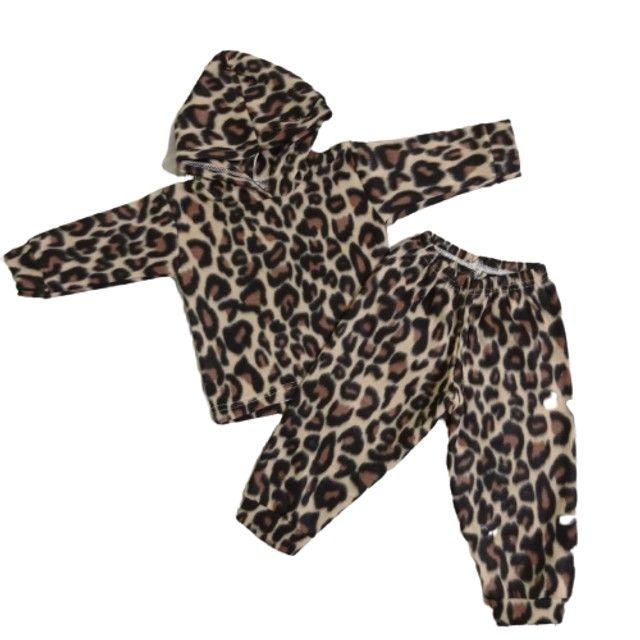 Conjuntos de calça comprida +Blusa de manga comprida e capuz/ Bebê - Foto 4