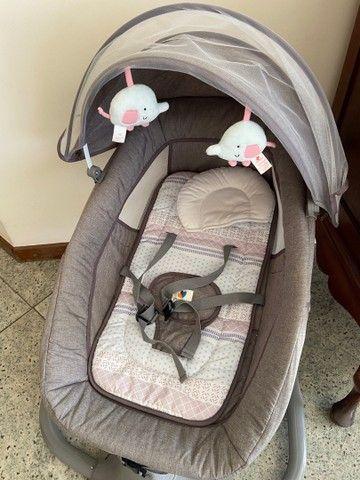 Cadeirinha de Balanço automática - cadeira de bebê vibra música bluetooth - Foto 5
