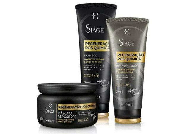 Kit Siàge Regeneração Pós Química Shampoo + Condicionador + Máscara<br><br>-Eudora