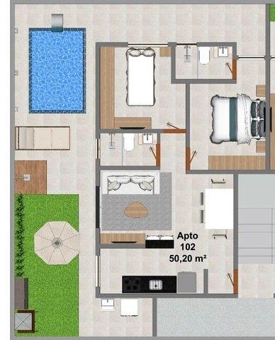 Apartamento 2 quartos - térreo com área privativa no Bancários com piscina   - Foto 4