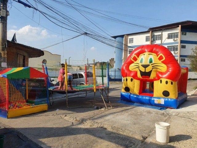 Brinquedos inflavéis, pula pula, tobogã, futebol de sabão e ainda temos vagas para dia 12! - Foto 5