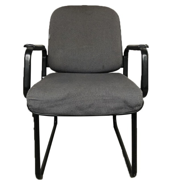 Cadeira para escritório sala de espera com apoio de braços e cor cinza - Foto 2