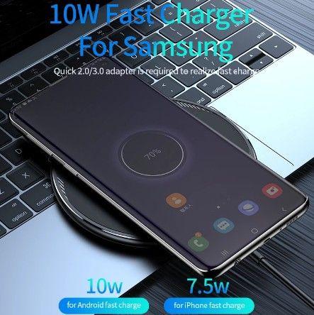 Carregador Kuulaa de 10W, carregamento sem fio para Iphone 8 e samsung s6 edge em diante - Foto 6