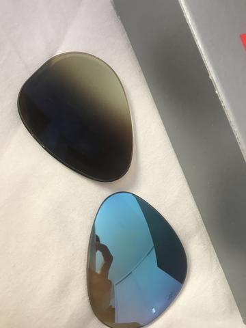 Lente rayban azul espelhada degradê ORIGINAL - Foto 4