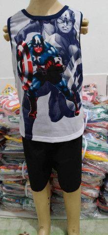 Conjuntos Infantís femeninos e masculinos de ótima qualidade 100% algodão  - Foto 5