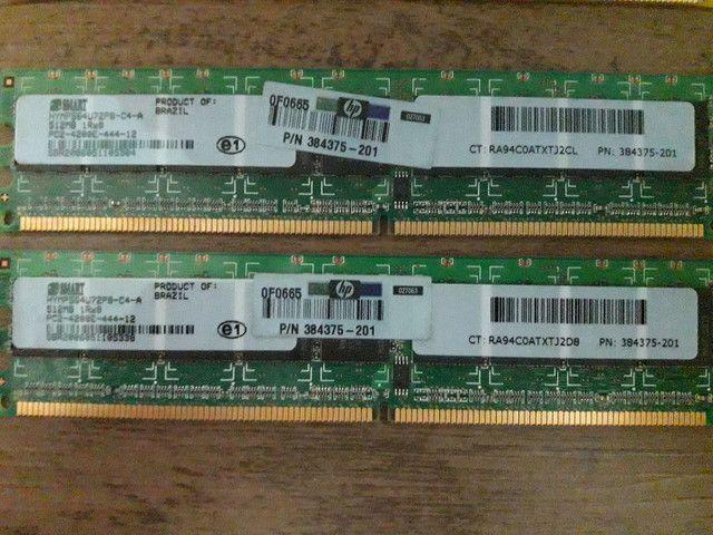 Memória RAM ddr2    1gb ( 2x512) - Foto 2