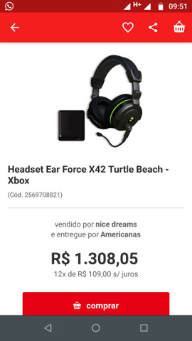 Head set gamer turtle Beach x42 surround, wireless
