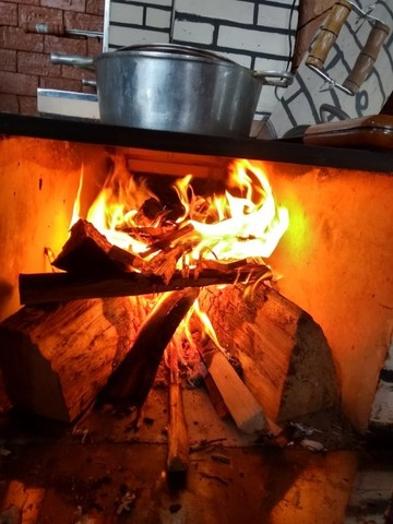 trio caipira churrasqueira fogão a lenha forno - Foto 3