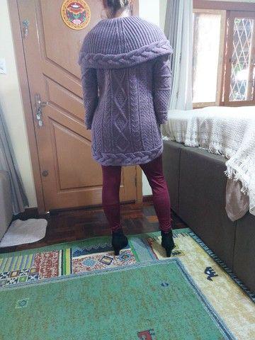 Casaco marca Biamar em trico usado $ 170,00