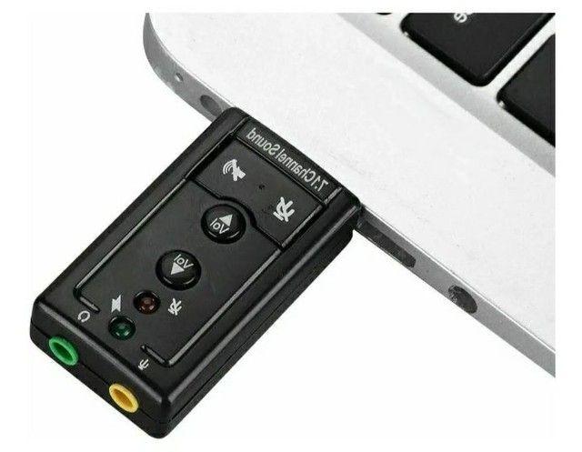 Placa de som USB x P2 - Foto 2