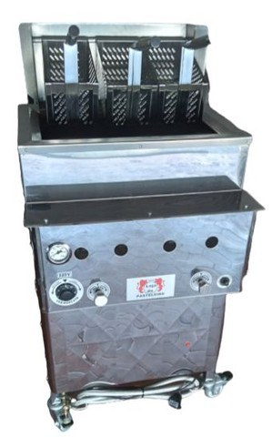 Fritadeira quadrada com cestos Loja do Pasteleiro para salgados e porções * Peça Única  - Foto 4