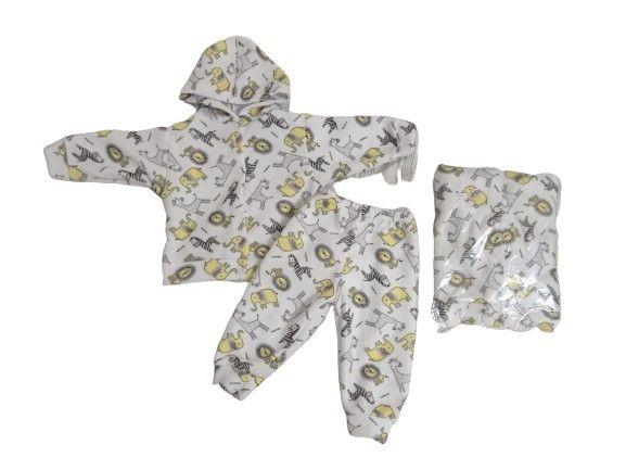 Conjuntos de calça comprida +Blusa de manga comprida e capuz/ Bebê - Foto 5