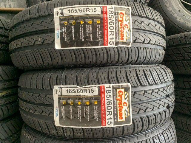 Par de pneus Crystone 185/60/15 (excelência em qualidade)