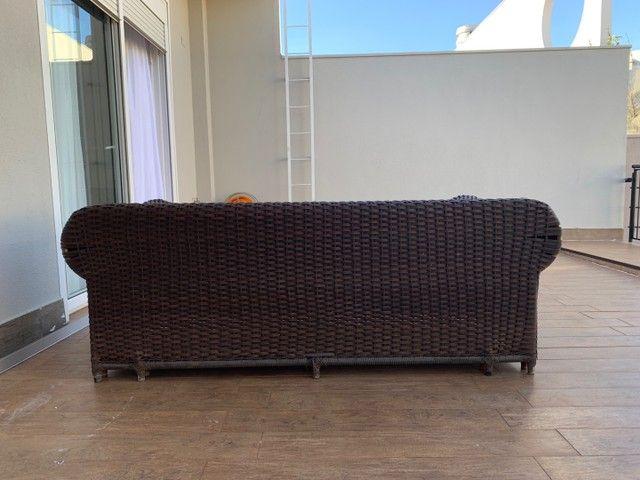 Jogo de sofás para área externa em fibra sintética  - Foto 4