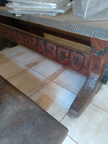 Rack mesa e banco tudo de madeira  - Foto 2