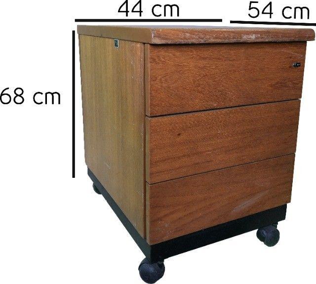 Gaveteiro para escritório ou quarto com 3 gavetas e rodízio - Foto 4
