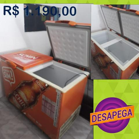 Freezer horizontal laranja Upp Desapega