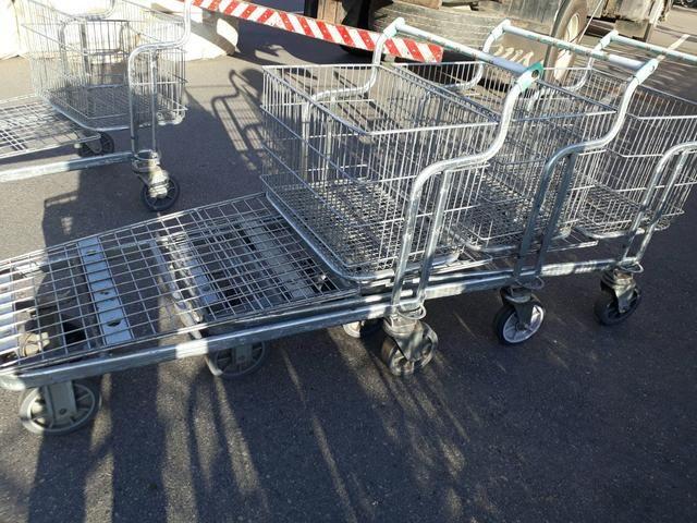 Carrinho de supermercado cesto e prancha - Foto 2