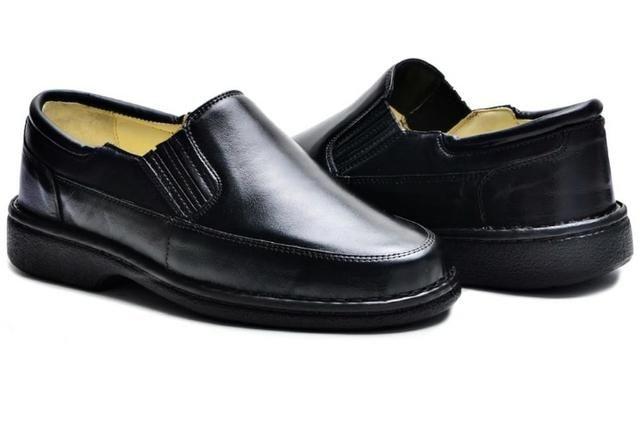 11e203a185 Sapato Social Maculino Couro Ortopédico Para Diabético - Anti Stress  Conforto Total - Ata