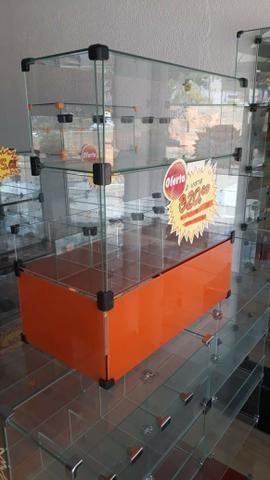 Baleiro de vidro caixa