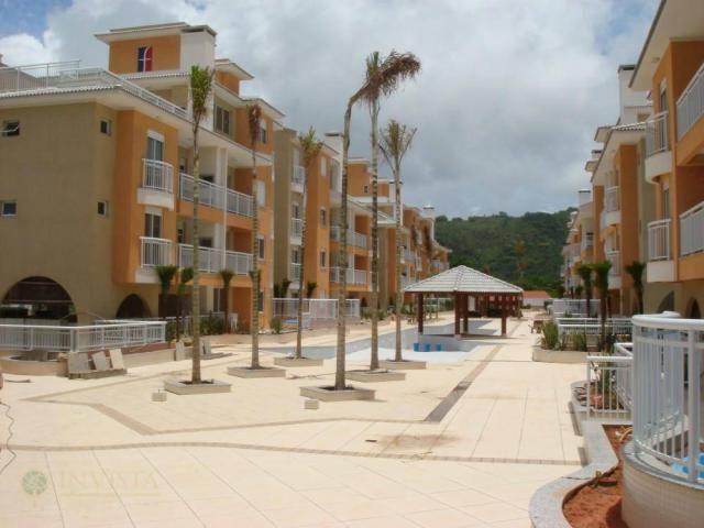 Vista com área verde churrasqueira, 50 metros da praia - Foto 19