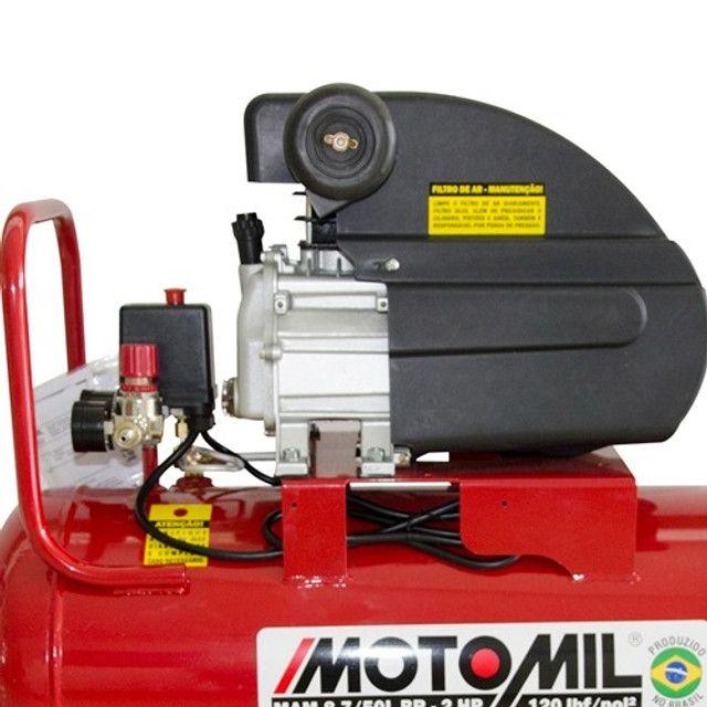 Compressor de ar 50 litros 2 hp potente novo de fabrica e preço de custo - Foto 2