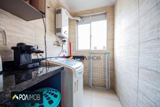 Apartamento com 2 dormitórios para alugar, 54 m² por R$ 1.800,00/mês - Protásio Alves - Po - Foto 13
