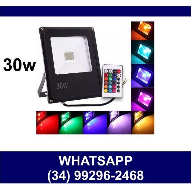 Refletor Led RGB 30w Prova Dágua Colorido * Fazemos Entregas