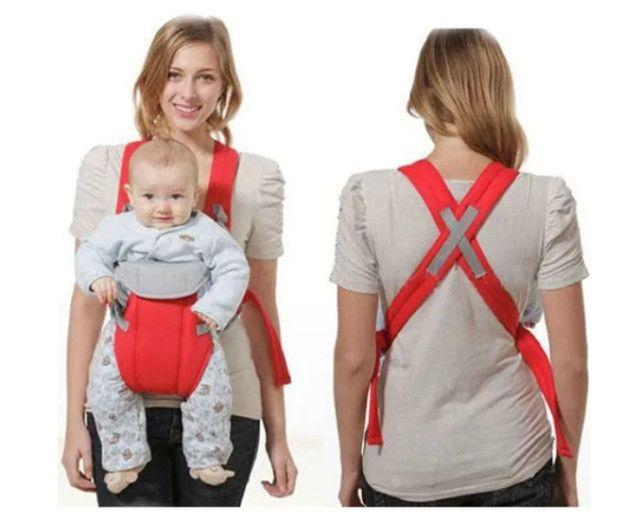 Bolsa Canguru Bebê Leve Alça Almofadada Até 12 Meses 9,5kg - Foto 3