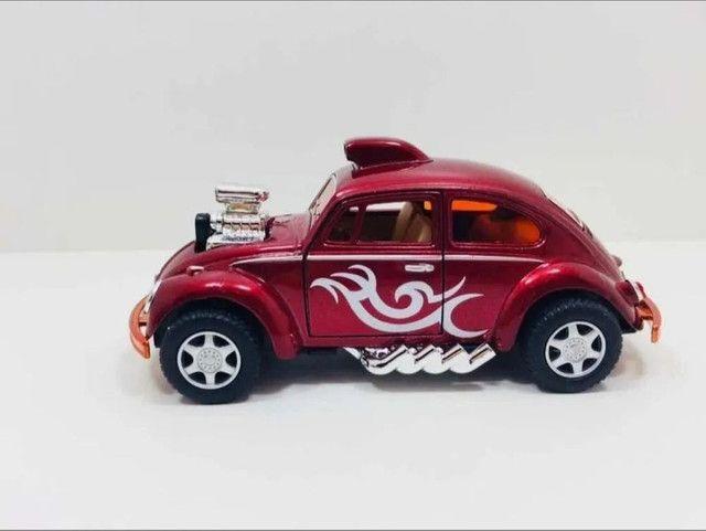 Miniatura Fusca Dragracer Vinho Escala 1:32 - Foto 2