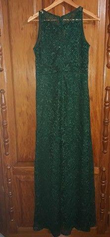 Vestido longo verde escuro - Foto 2