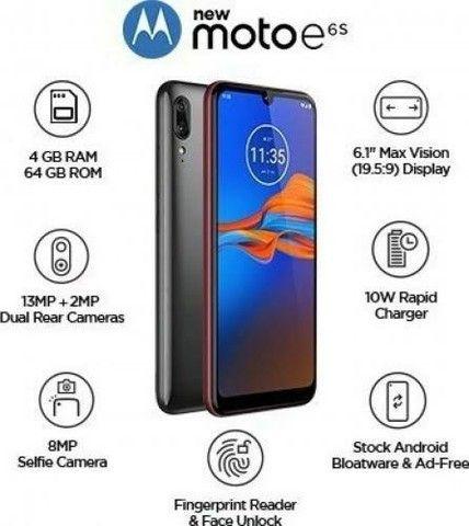 """Celular Motorola Moto E6s Cinza Titanium 32gb Tela 6.1"""" 2gb Ram Câmera Dupla 13mp + 2mp - Foto 2"""