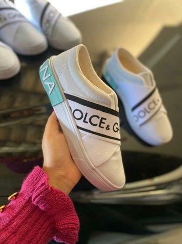 Tênis Meinha Dolce e Gabbana Primeira Linha na Caixinha Atacado - Foto 4