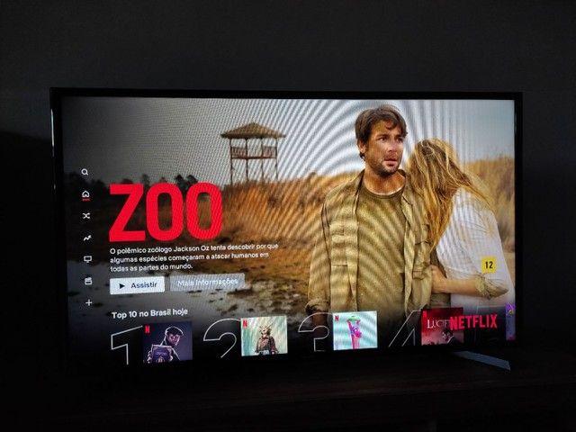 """Vendo Tv Samsung smart 43"""" ou troco por uma de 60"""
