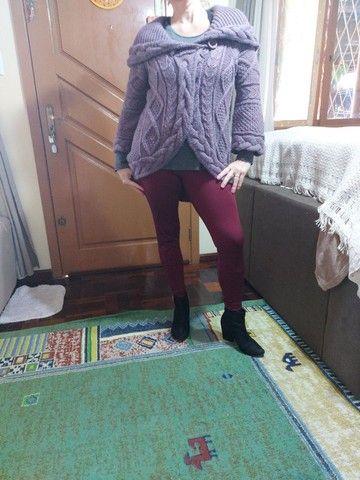 Casaco marca Biamar em trico usado $ 170,00  - Foto 2