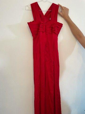 Vestido de festa em cetim vermelho  - Foto 3