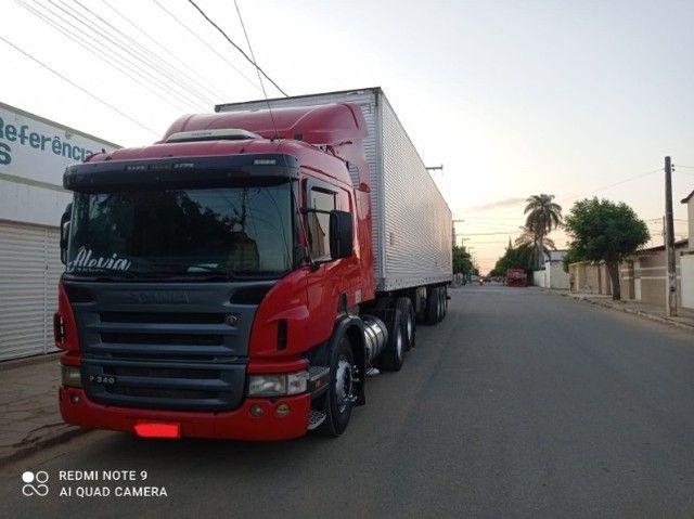 Scania P340 2011 + Baú Random 2008 15m + Rastreador Autotrac