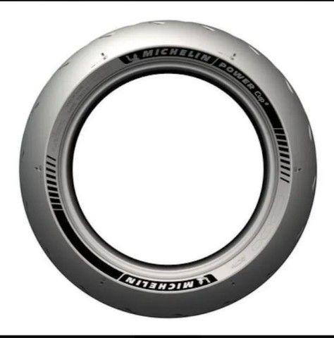 Pneu Michelin Power Cup 2 190/55-17 75w Traseiro R$1.700 - Foto 2