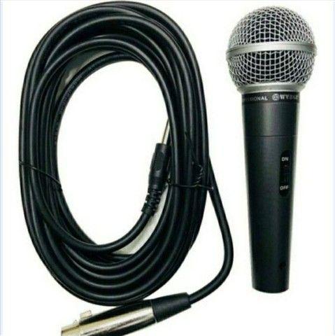 Microfone Dinâmico p Show/Karaokê novo em folha