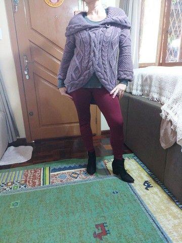 Casaco marca Biamar em trico usado $ 170,00  - Foto 3