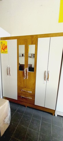 Guarda Roupa Casal Espelho 6 Portas 2 Gavetas Real Atualle