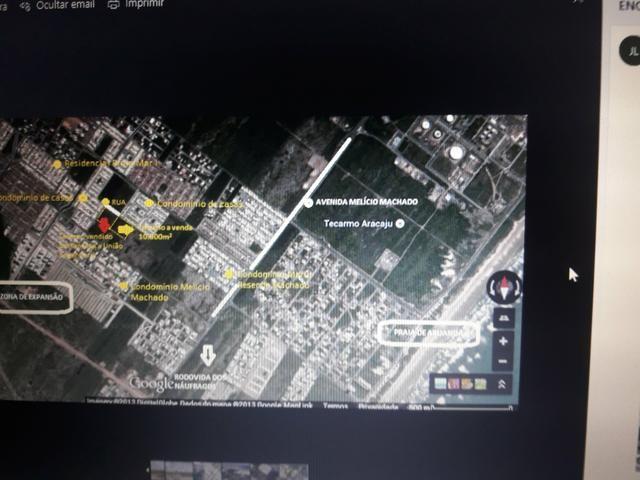 Área (terreno) comercial na Av. Melício Machado med. 108 m x 822,80 m - Foto 4