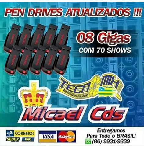 Gravações em pen drives e vendas