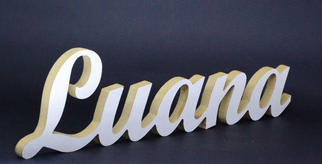 Nome Luana em MDF Laminado Branco