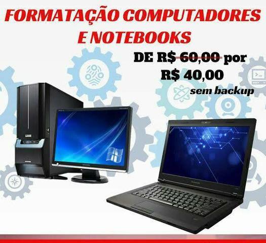 Formatação de notebook e computadores