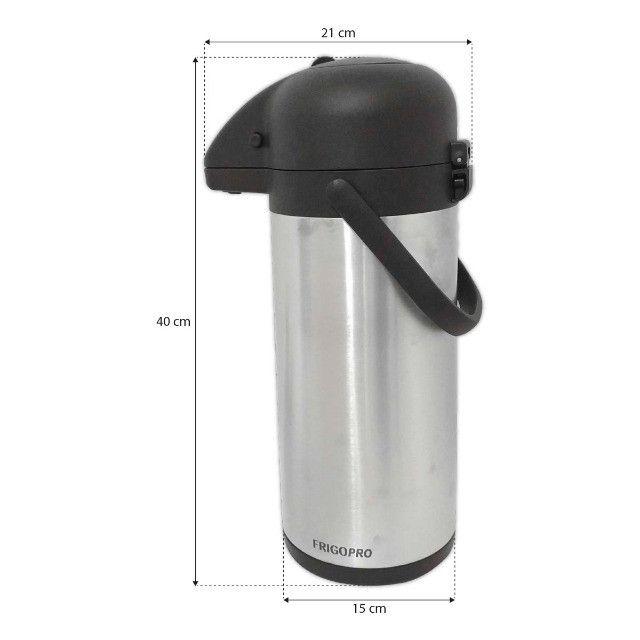 Garrafa Termica Aço Inox 3 Litros Inquebrável Quente e Fria - Foto 2